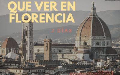 ¿Vas a Italia? Que Ver en Florencia en 3 Días