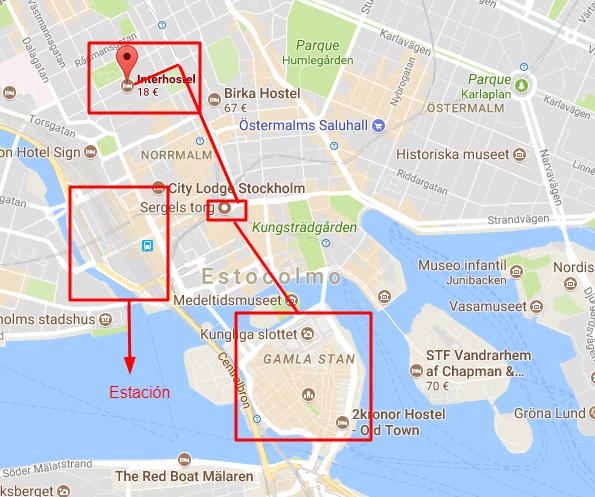 Mapa Estcolmo